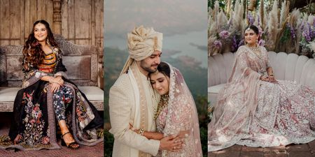 An Intimate Winter Wedding With A Very Offbeat Mehendi Lehenga