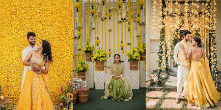 Background Haldi Ceremony Decoration Inspiration For Your Intimate Wedding