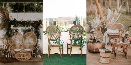 Obsessed With Cane Decor At Weddings!