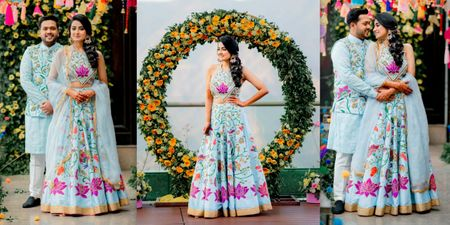 This Bride Hand-Painted Her Mehendi Lehenga Fighting All Odds (Even Covid-19)