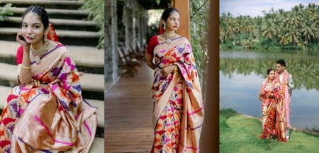 An Intimate Kerala Wedding With 20 Guests & A One Of A Kind Bridal Saree