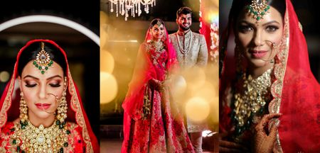 A Pre-Pandemic Wedding With The Bride In A Traditional Red Lehenga