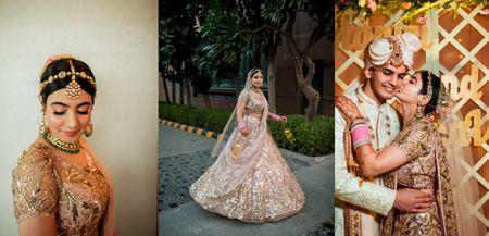 Classic Delhi Wedding With The Bride Who Wore Gorgeous Sispattis!