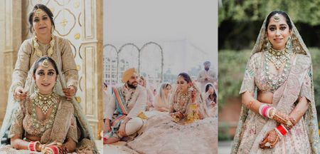 Stunning Delhi Wedding With A Bride Who Wore Some Epic Bridal Blouses