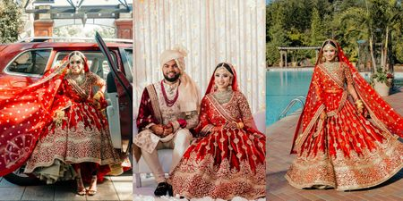 Modern New York Nikaah With The Bride In A Glam Red Sabyasachi
