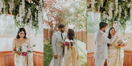 Beautiful Civil Ceremony In The Bride's Backyard After COVID Altered Their Plans
