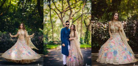 A Gorgeous Goa Wedding With The Freshest Mehendi Lehenga We've Seen!
