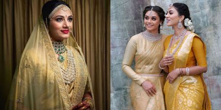 These Brides In A Gold Kanjeevaram Saree Just Hit Different!