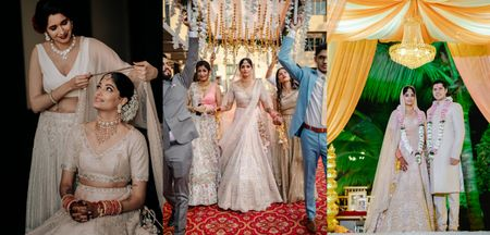 An Intimate Mumbai Wedding With The Bride In Ivory