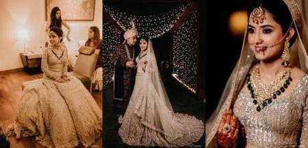 Glam Delhi Wedding With An  Offbeat Bridal Lehenga