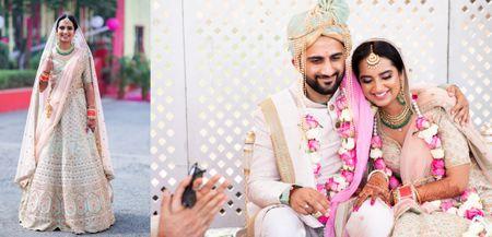 Minimalist Delhi Wedding With A Blush Pink Bridal Lehenga