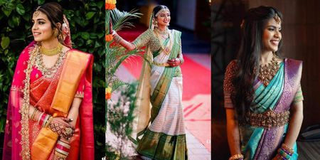 Colorblocked Kanjeevaram Sarees We Loved!