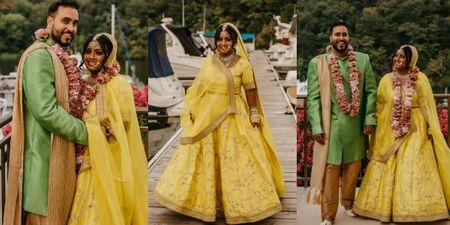 Bangladeshi Nikaah In US With The Bride In A Sunny Yellow Lehenga