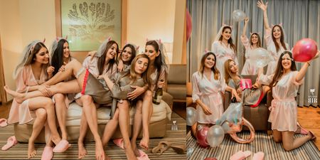 This Bridal Shower Was All About Wine Sips, Coordinated Robes & Quirky Props!