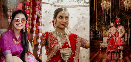 A Winter Delhi Wedding With Statement Jewellery & Custom Outfits