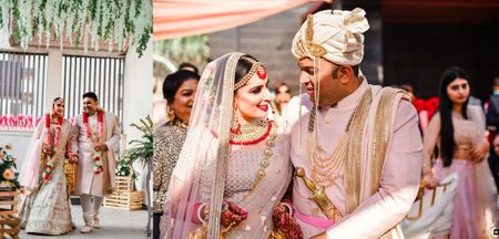 A 50 People Delhi Wedding With A Coordinated Couple In Ivory!