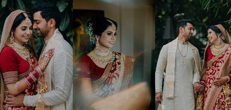 Intimate Delhi Wedding With A Ravishing Banarasi Bridal Saree