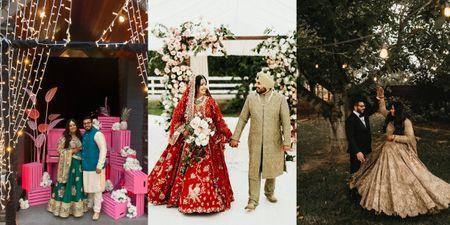 Stunning Canada Wedding Of A Popular MUA With Gorgeous Bridal Looks & Decor!