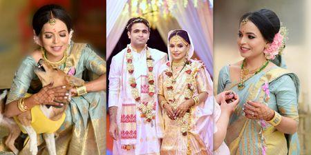 A Cross-Culture Home Wedding With A Bride Who Wore Pretty Mekhela Chadors