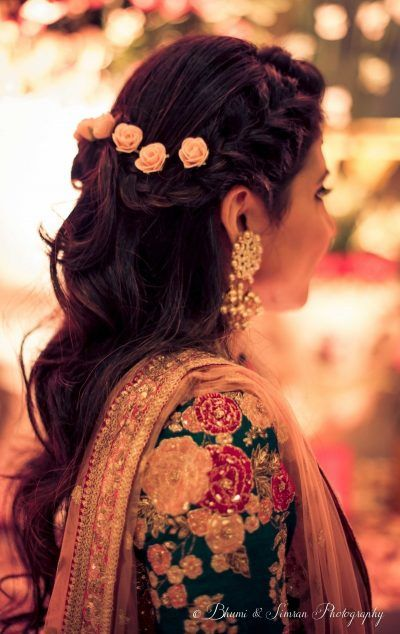 Bridal Hairstyles For Every Single Function At Your Wedding - Hairstyle for engagement girl