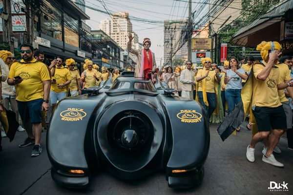 These Groom Entry Ideas Are The Best For Your Baraat! | indian groom in a batmobile | batmobile at weddings | batman | Batman At Wedding | Batmobile in a baraat  | wedding ideas | groom entry ideas | Function Mania