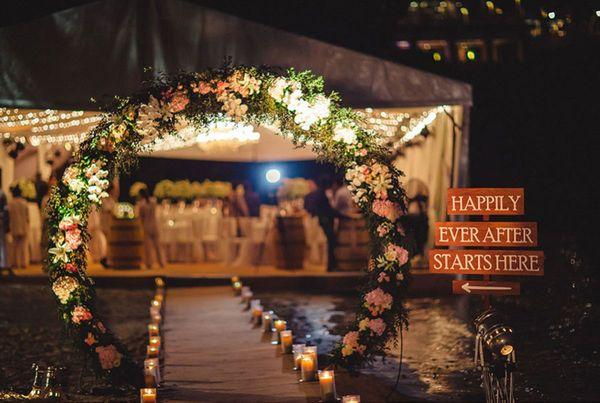 wedding entry walkway decor ideas