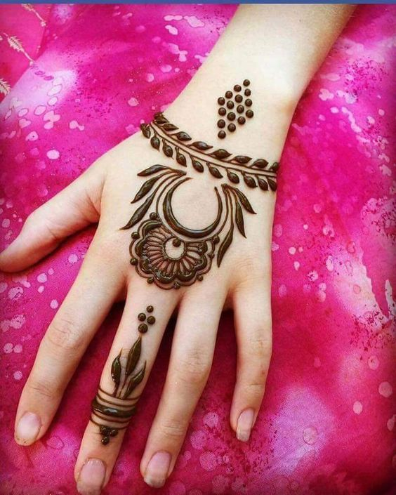 arabic design mehndi easy