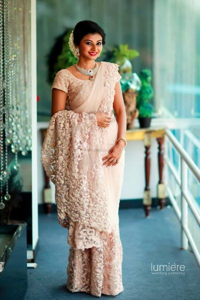 15 Brides Who Wore Sarees For Their Reception 2019 Trends