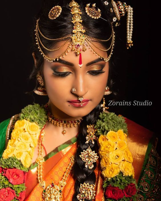 This Unique Hairdo Of Iyengar Brides Captured Our Hearts | WedMeGood