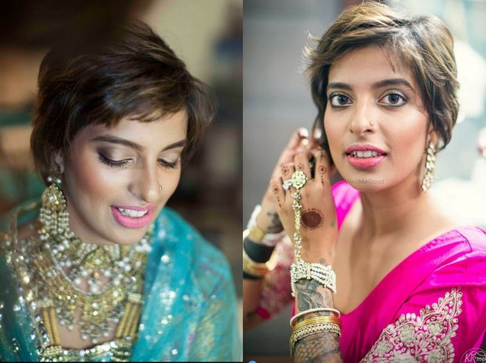 Brides Who Carried Off Short Hair To Perfection On Their Weddings Ideas Inside Wedmegood