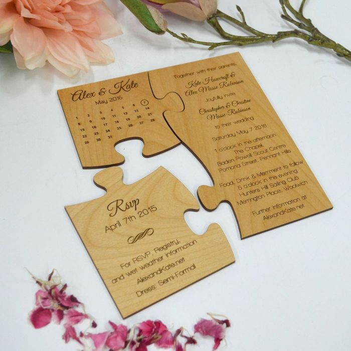 Cute 15 Jigsaw Puzzle Wedding Card Ideas That Are Way Too Cute To Handle Wedmegood