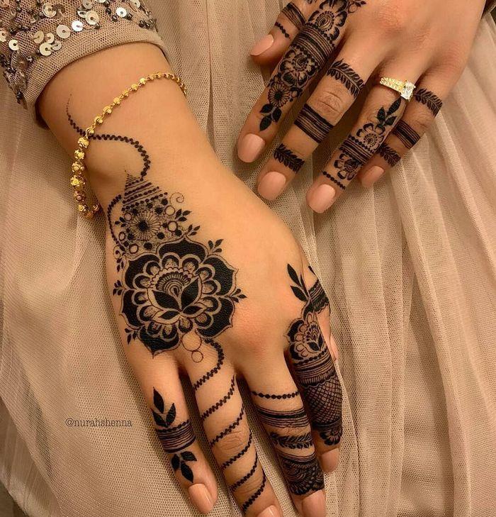 modern mehndi design arabic simple