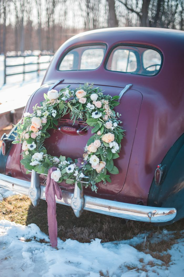 Just Married Car Decoration Ideas from image.wedmegood.com