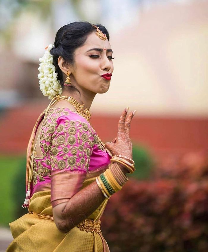 These South Indian Brides Ditched Mainstream Coy Poses Chose To Be Their Natural Self Wedmegood
