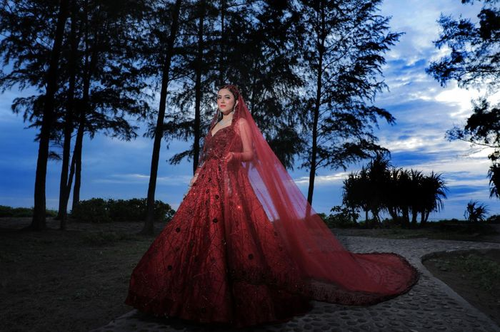 This Bride Wore A Bridal Gown With A Dupatta Kaleere Absolutely Owned The Look Wedmegood