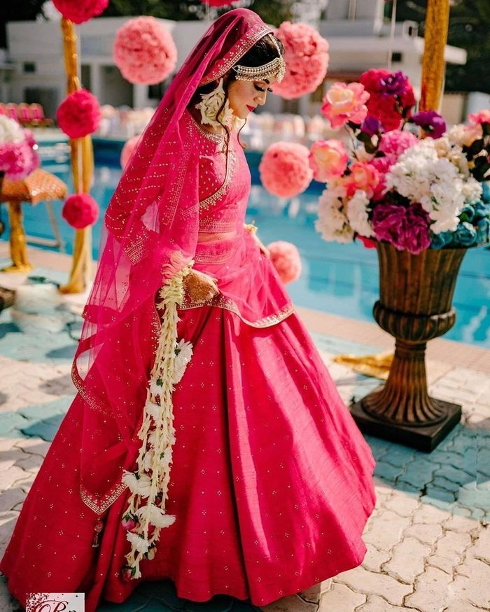 25 Different Shades Of Pink We Spotted In Bridal Lehengas Wedmegood Rani pink colour wedding lehenga choli. 25 different shades of pink we spotted