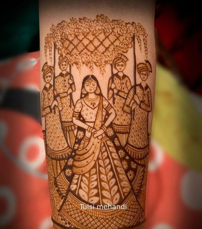 bridal mehendi designs latest