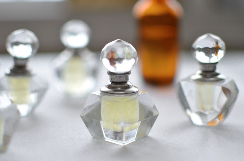 DIY Perfume with Coconut and Almond Oil Bottles