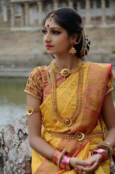 0b122910523ce 30+ Unique Blouse Designs For South Indian Brides!