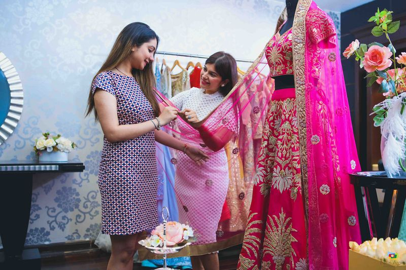 We Followed A Bride As She Went To Pick Her Sangeet Outfit At Aashima Behls Store