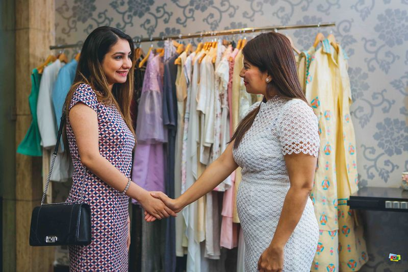 So Prerna Walked Into The Store And Had A Discussion With Aashima Who Narrowed Down 3 Lehenga Options For Her Sangeet Keeping In Mind Brides