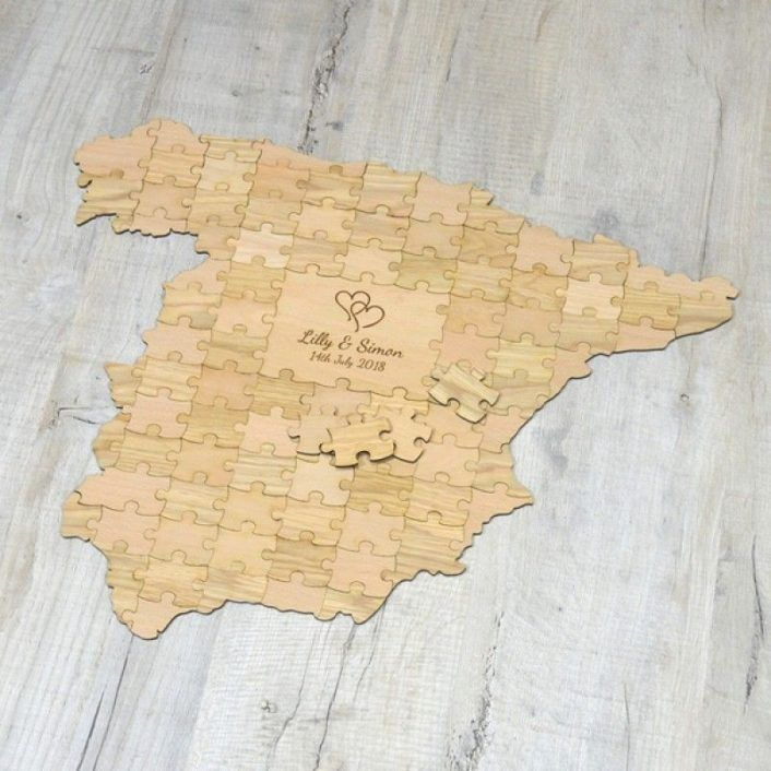If Youre Planning For A Destination Wedding Then How About Giving Hint So Cool Right To Your Guests The With Puzzle Invite
