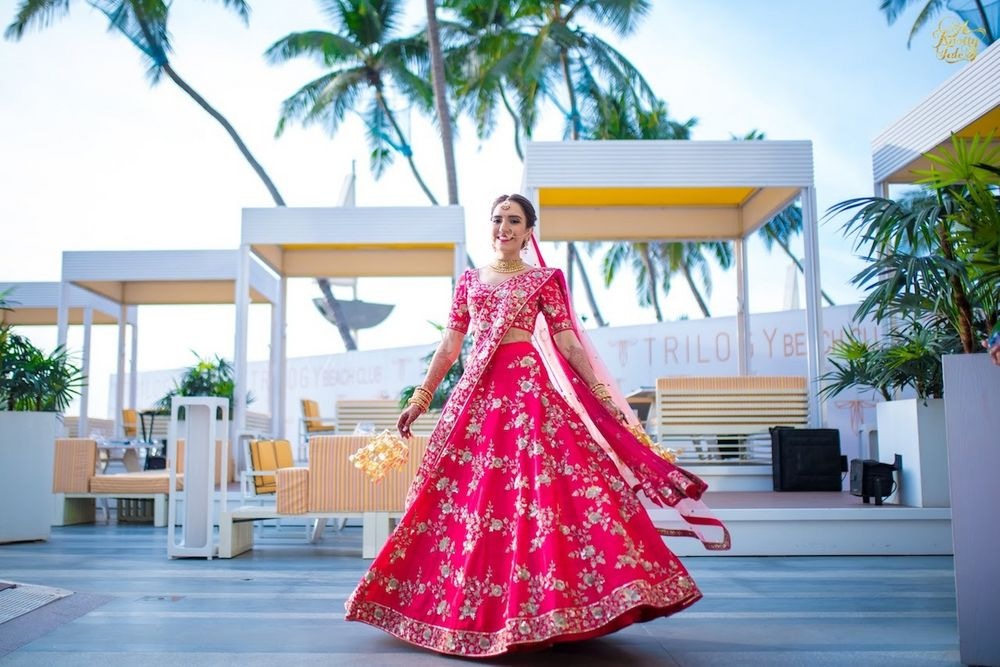 Photo of Red bridal lehenga simple