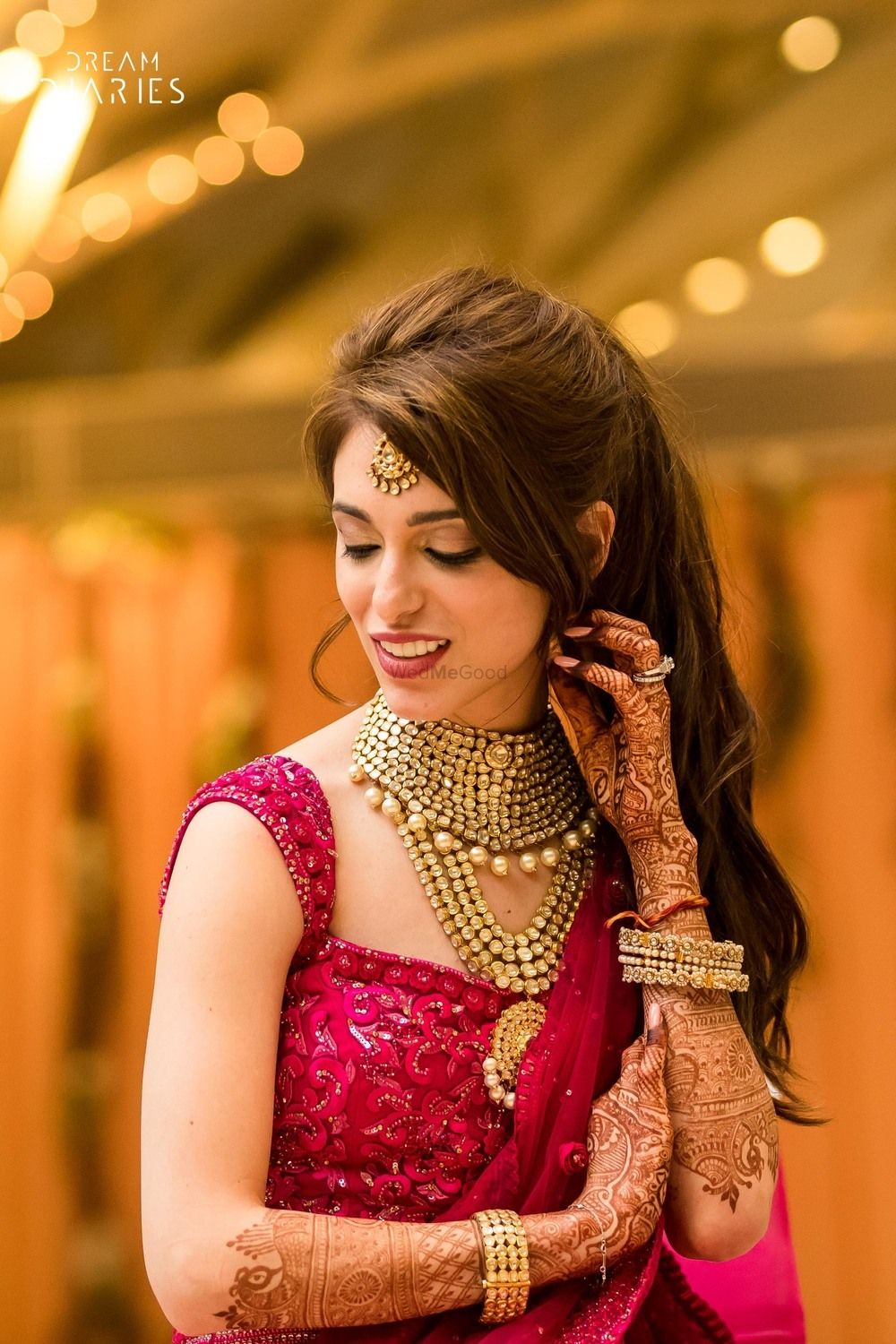 Photo of Sangeet jewellery with statement necklace