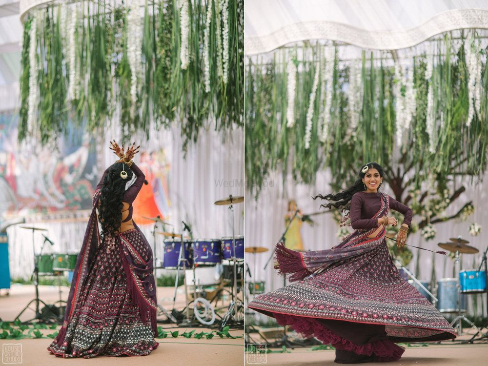 Purple Outfits Photo Twirling bride