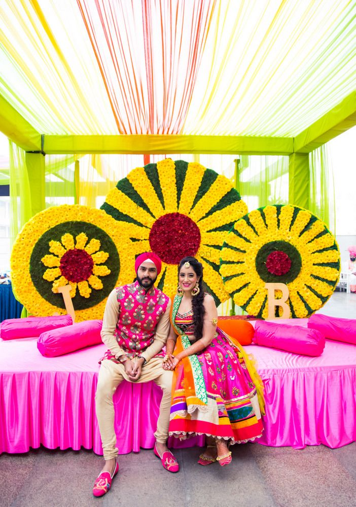 Wedding Decor Photo mehendi stage backdrop