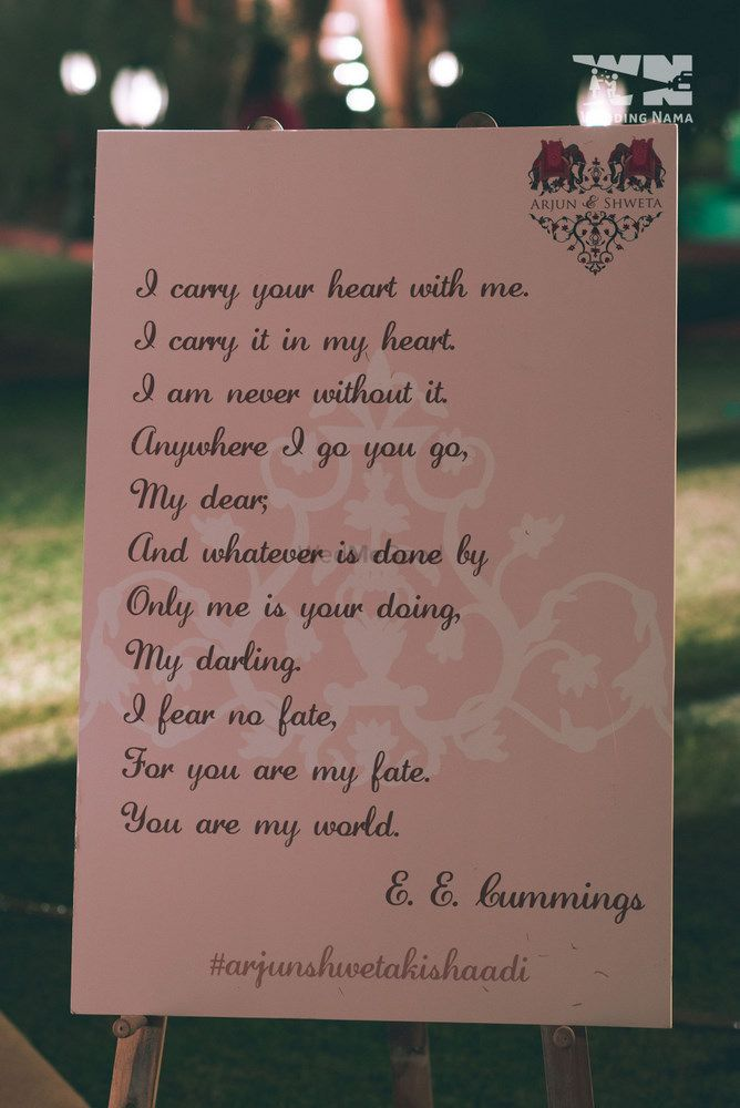 Photo of quotes in your wedding