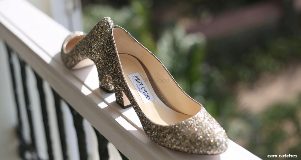 Photo of Silver bridal jimmy choos