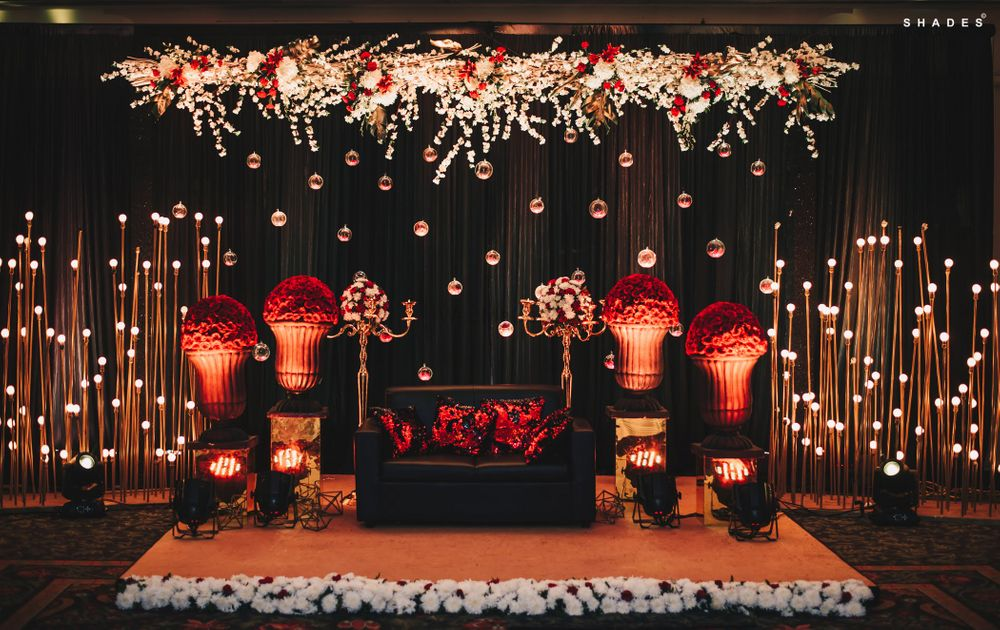 Photo of Floral stage decor for the sangeet