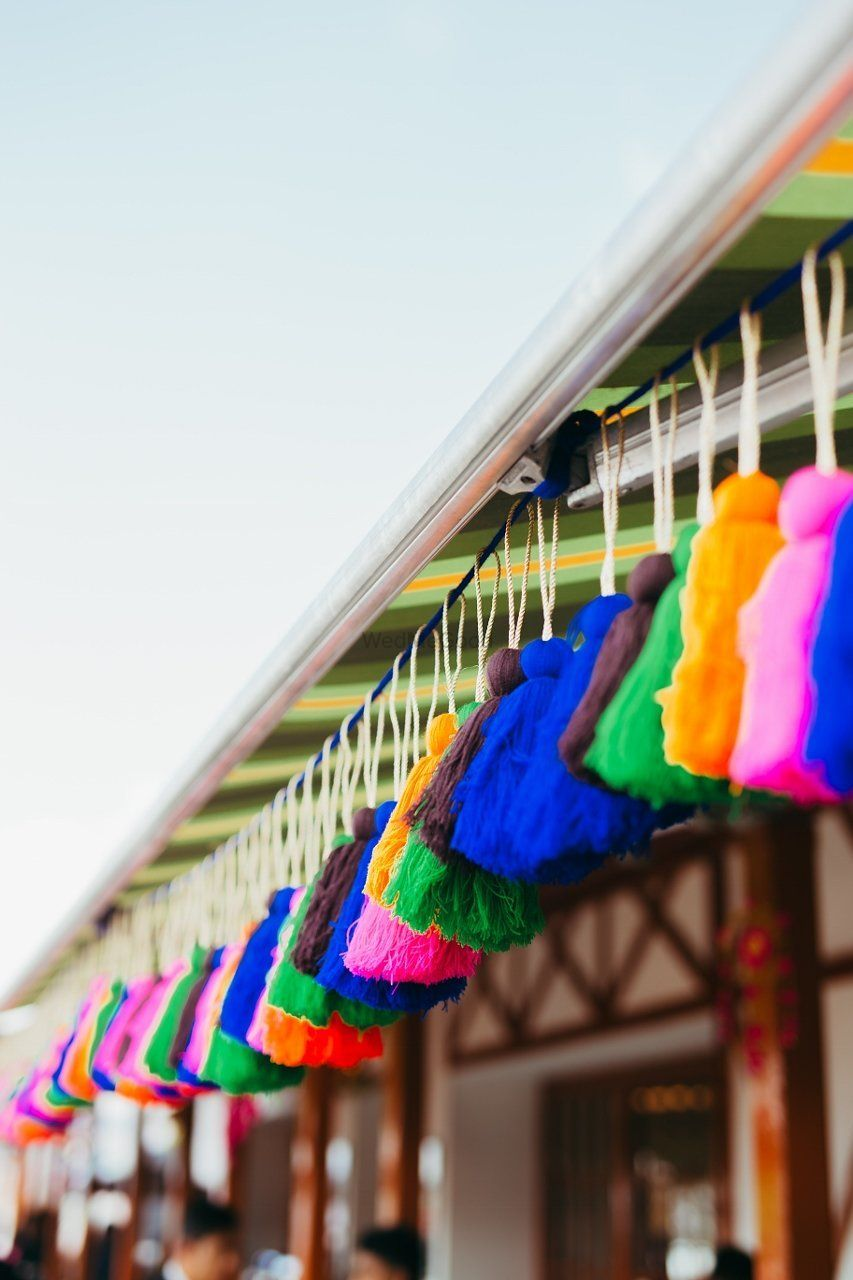 Photo of Hanging colourful tassels